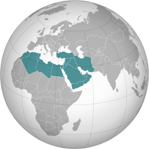 Middle East and North Africa globe