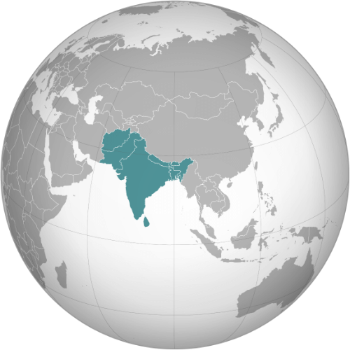 South Asia on map of world globe, map of north america globe, map of new zealand globe, map of middle east globe,