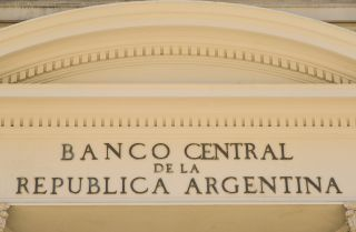 A photo of Argentina's central bank headquarters in Buenos Aires.