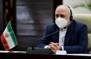 Iranian Foreign Minister Javad Zarif speaks during a meeting in Havana, Cuba, on Nov. 6, 2020.