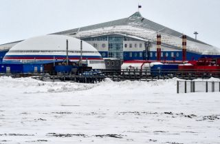 A view of Russia's northernmost military base on the island of Alexandra Land on May 17, 2021.