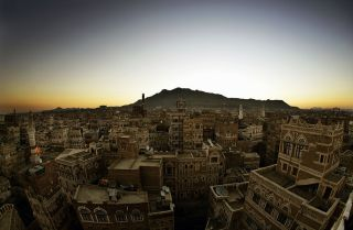 Overlooking Sanaa, Yemen's capital city.