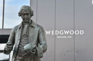 British fine china company Wedgwood on Oct. 14, 2020, in Stoke-on-Trent Staffordshire, England.