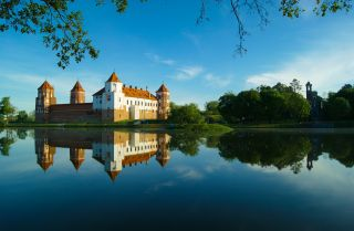Mir Castle in the Minsk region of Belarus.