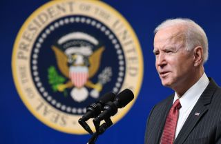 U.S. President Joe Biden speaks about the situation in Myanmar following the recent military coup in Washington D.C. on Feb. 10, 2021.