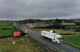 The border between Northern Ireland and the Republic of Ireland on Nov. 19, 2020, in Newry, Northern Ireland.
