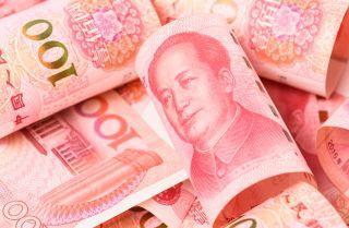 An image shows Chinese renminbi banknotes.