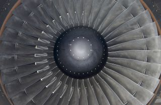 A jet engine is seen in this file photo. Chinese national Xu Yanjun is accused of attempting to steal jet technology from a company in the United States.