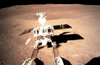 A Chinese lunar rover begins exploring the far side of the moon on Jan. 3, 2019.