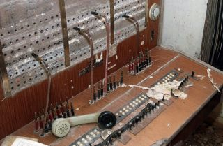 A picture taken near Linza shows an old Chinese switchboard inside an underground tunnel built during Albania's self-imposed isolation under the communist regime. The tunnel served as a refuge for ministry of interior and secret service officials in the event of a conflict.