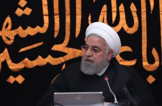 Iranian President Hassan Rouhani leads a Cabinet meeting in Tehran on Sept. 11, 2019.
