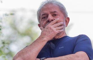 Former Brazilian President Luiz Inacio Lula da Silva, shown here after a mass held in memory of his late wife Marisa Leticia on April 7, 2018, in Sao Paulo, Brazil.