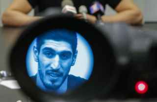 Enes Kanter, a Turkish citizen who plays for the NBA's Oklahoma City Thunder, thinks Turkey canceled his passport in retaliation for his outspoken criticism of President Recep Tayyip Erdogan.