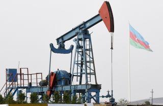 An oil pump in Baku, Azerbaijan.