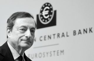 European Central Bank President Mario Draghi pictured during his first press conference following the monthly ECB board meeting in Frankfurt, Germany.