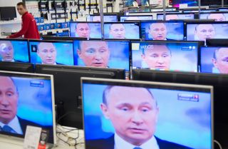 Russian President Vladimir Putin Phone-in Televised Show Nationwide Protests