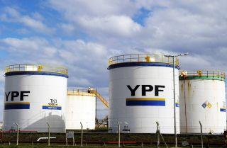 YPF gasoline tanks in Rio Gallegos, Argentina