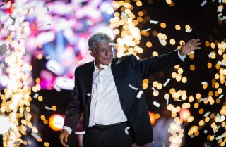 Andres Manuel Lopez Obrador is Mexico's president-elect. He's pictured here during a June 27, 2018, campaign event in Mexico City.