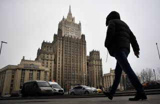 Russian Foreign Ministry headquarters in Moscow on Dec. 22, 2020.