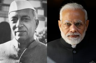 The policies of current Indian Prime Minister Narendra Modi (R) represent a departure from the secularist vision of the country's first prime minister, Jawaharlal Nehru (L).