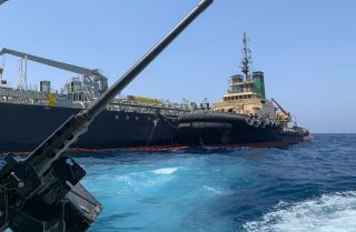 According to the U.S. military, a Japanese tanker was damaged by a limpet mine resembling Iranian mines on June 13, 2019.