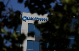 A Qualcomm office building in San Jose, California, pictured on Nov. 1, 2017.