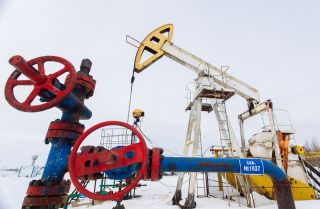 A pumpjack outside the Russian city of Surgut.
