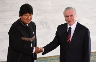 Bolivia and Brazil have an agreement to build a rail line through Bolivia that would connect the Peruvian port of Ilo with Brazil's rail network.