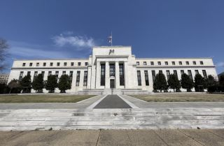 The Federal Reserve building is seen on March 19, 2021, in Washington, D.C.