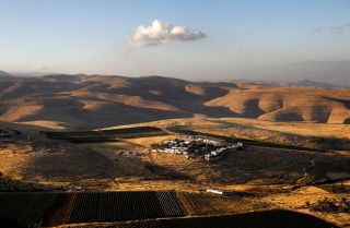 A picture shows the Israeli settlement of Mitzpe Kramim in the West Bank on June 18, 2020.