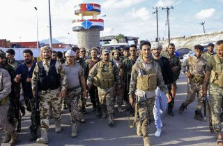 Fighters with Yemen's separatist Southern Transitional Council (STC) deploy in the city of Aden on April 26, 2020, after declaring self-rule of the country's south.