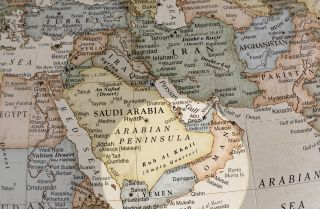 A map of the Middle East