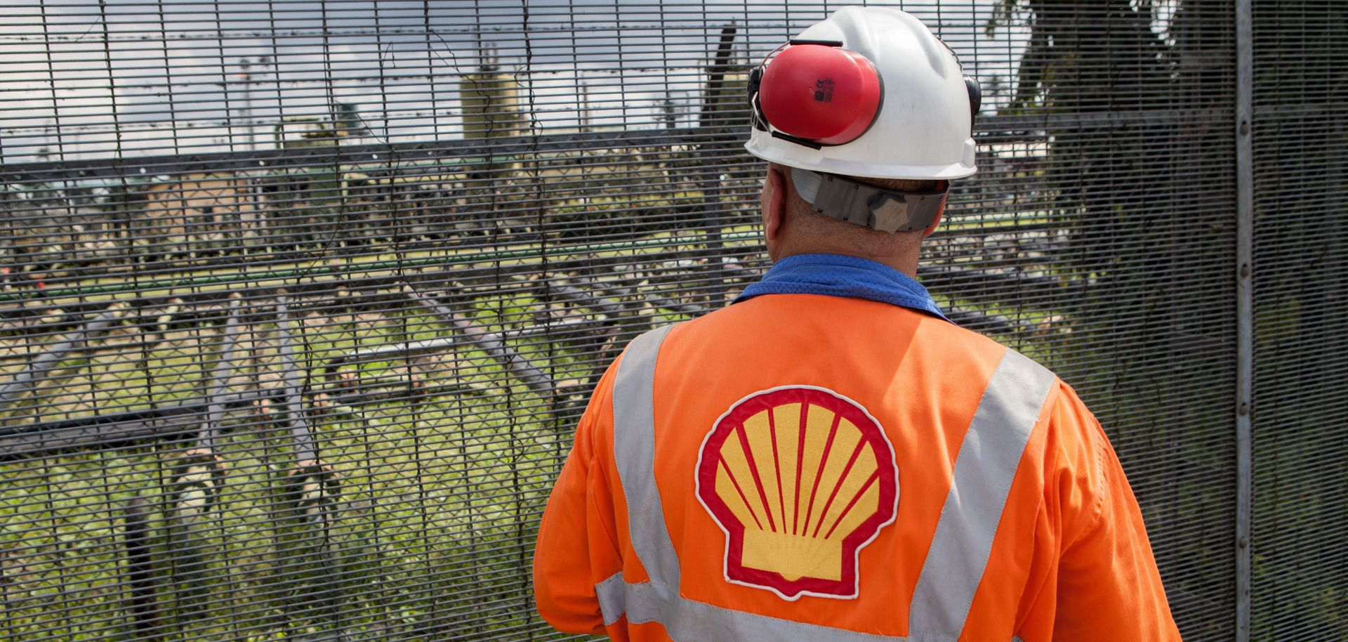 A Shell employee looks at the Agbada 2 oil flow station in Port Harcourt, Nigeria, in September 2015.