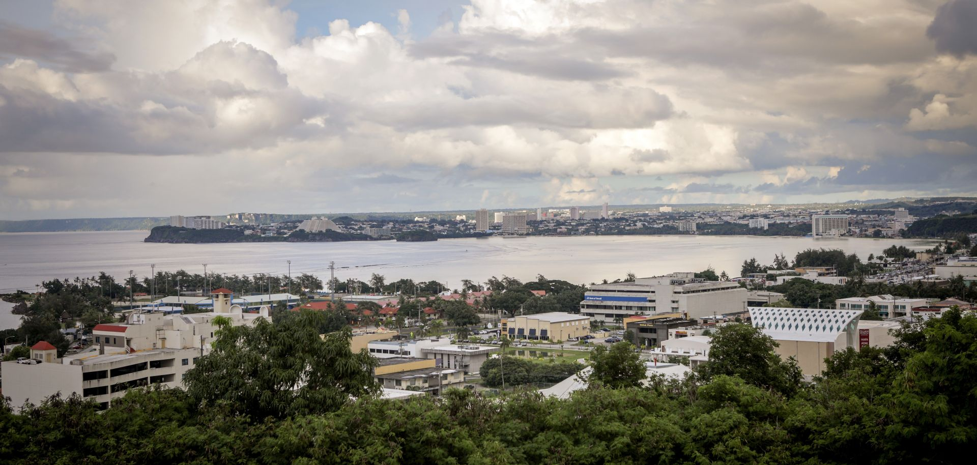 The city of Tamuning is on the island of Guam, a U.S. territory in the Western Pacific.