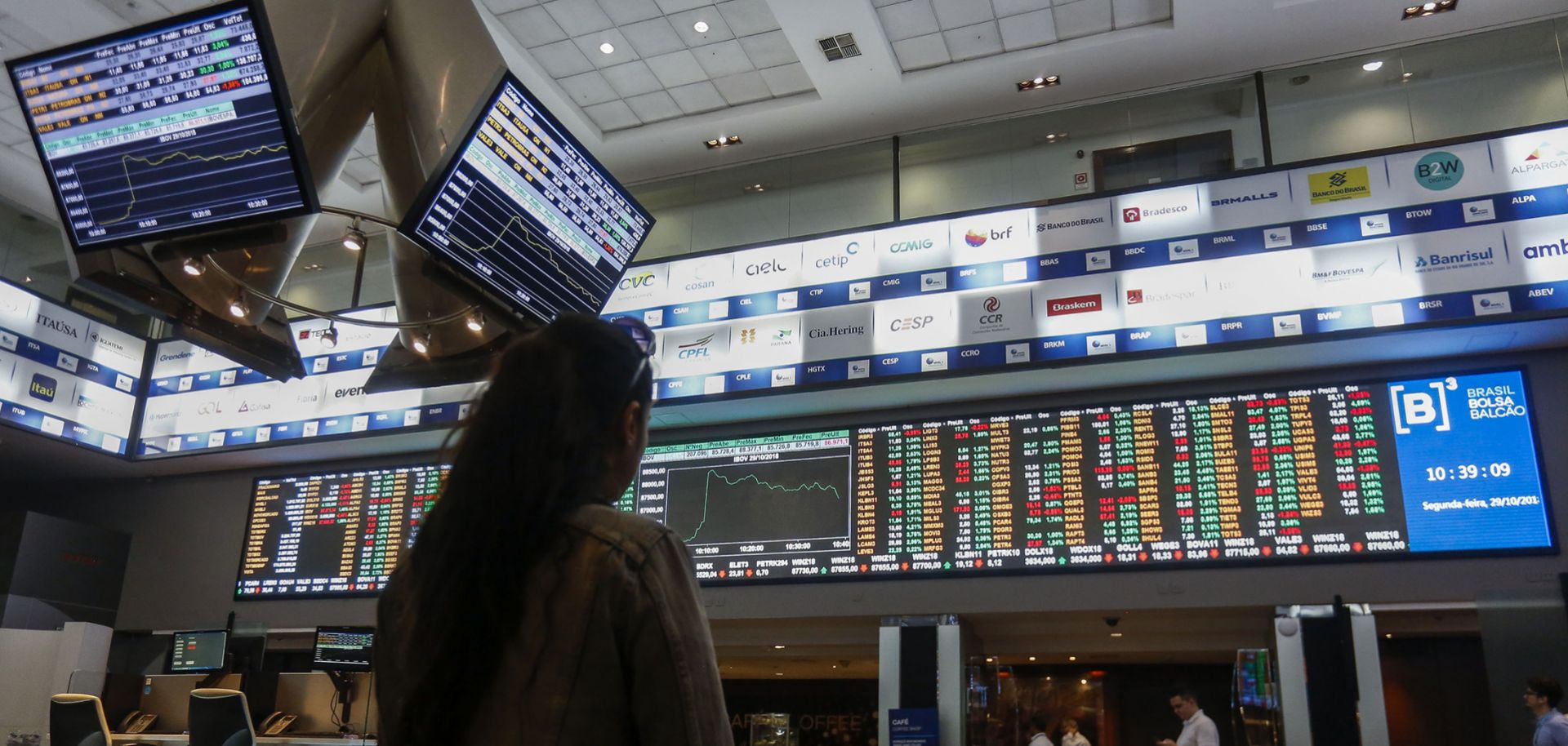 The headquarters of Sao Paulo's Stocks Exchange (Bovespa) in downtown Sao Paulo, Brazil, on Oct. 29, 2018.