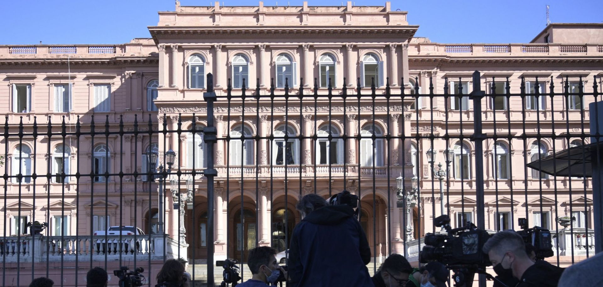 The Casa Rosada government palace on Sept. 16, 2021, in Buenos Aires, Argentina.
