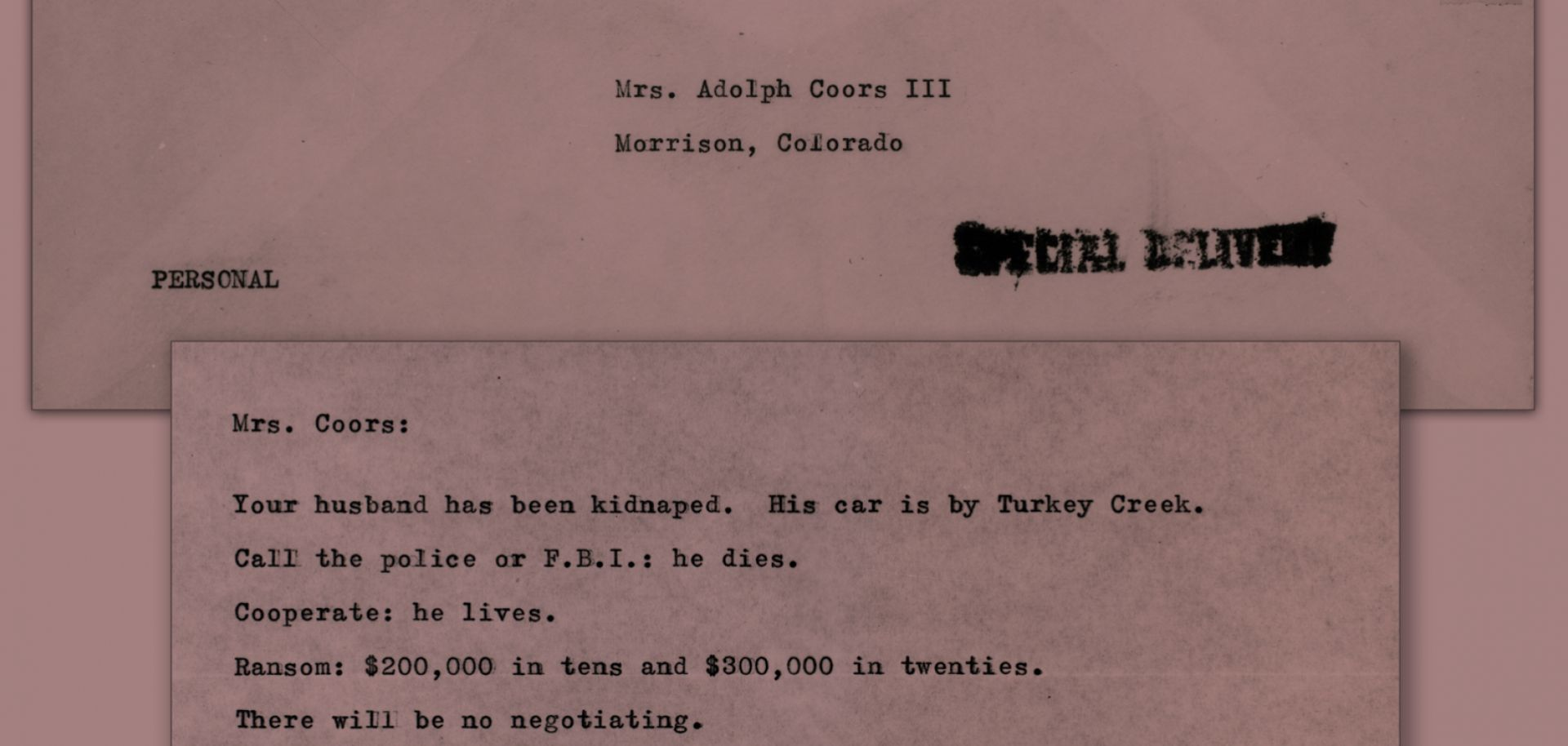 Joseph Corbett killed Adolph Coors III in 1960 during a botched kidnapping for ransom.