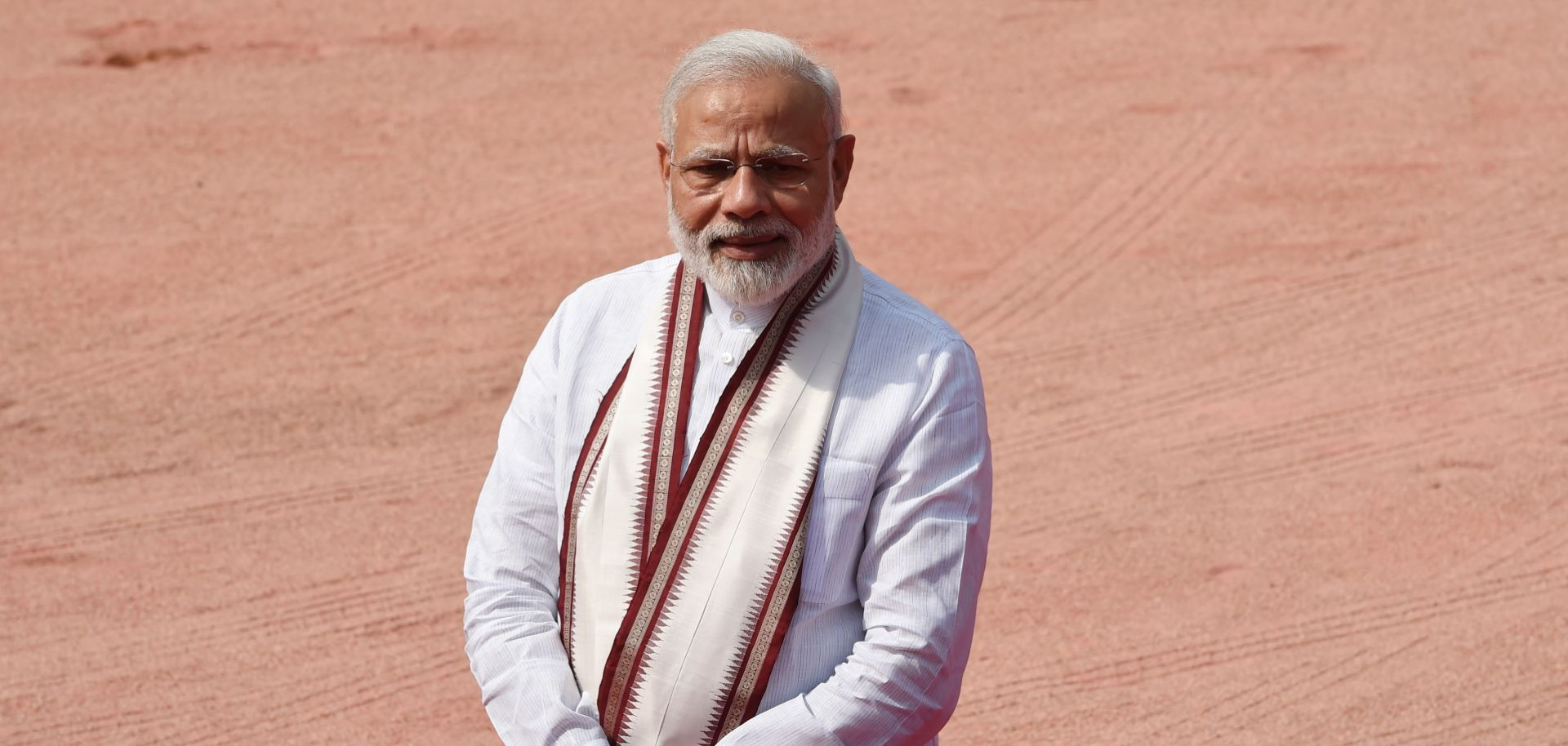 Indian Prime Minister Narendra Modi, looking quite content with himself