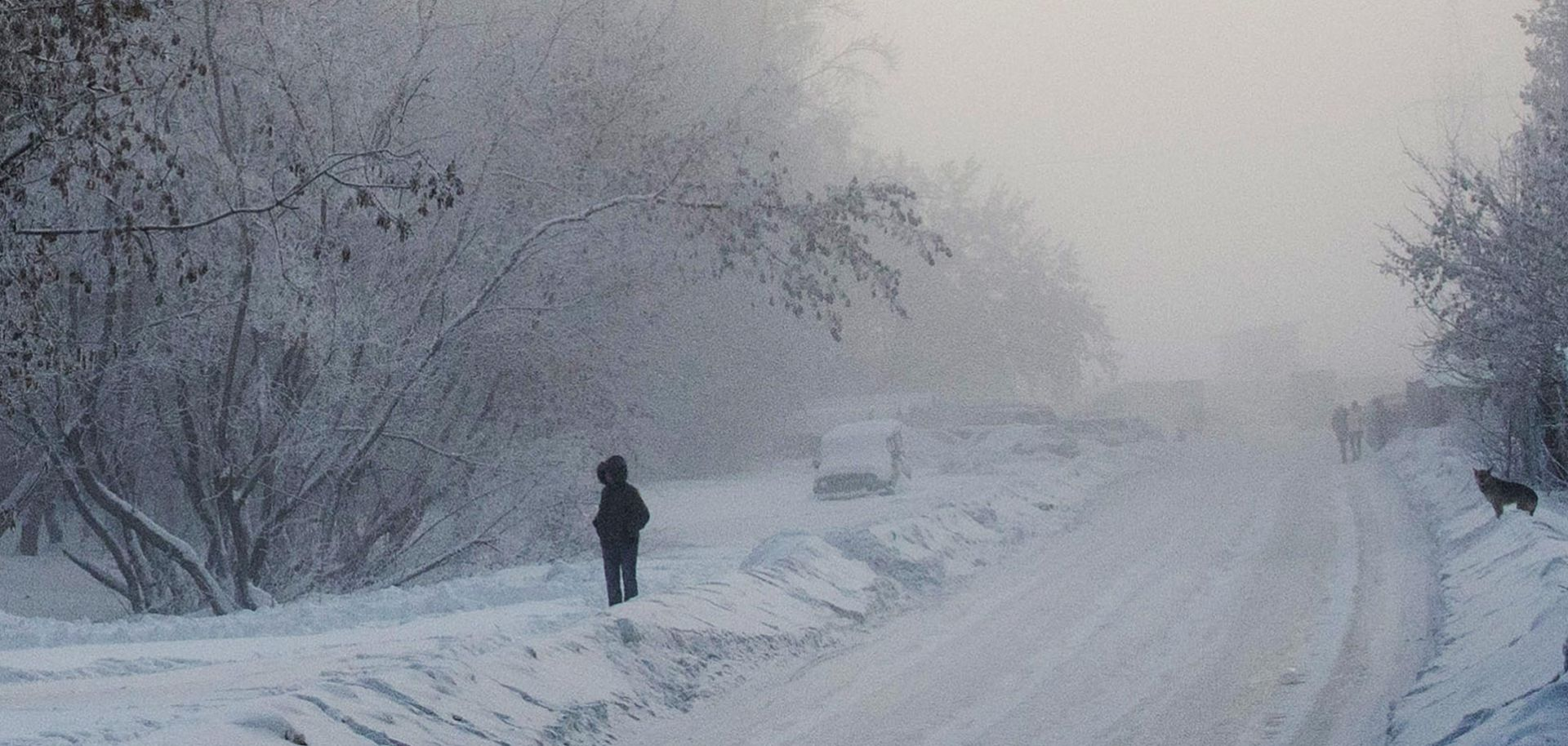 A lone figure picks their way through the ethereal frosted landscape of Novosibirsk, Russia. Russia has always struggled with the idea of Eurasia, geographically and culturally.
