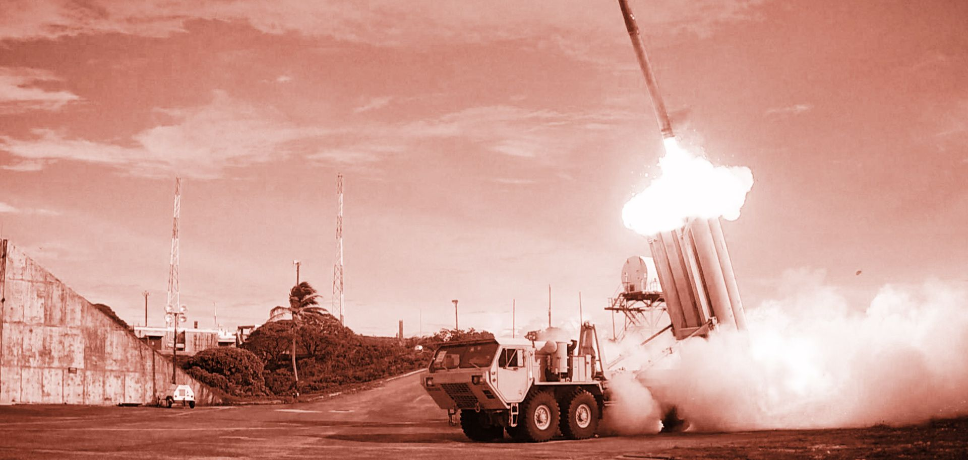 The first of two Terminal High Altitude Area Defense (THAAD) interceptors is launched during a successful intercept test by the U.S. Missile Defense Agency.