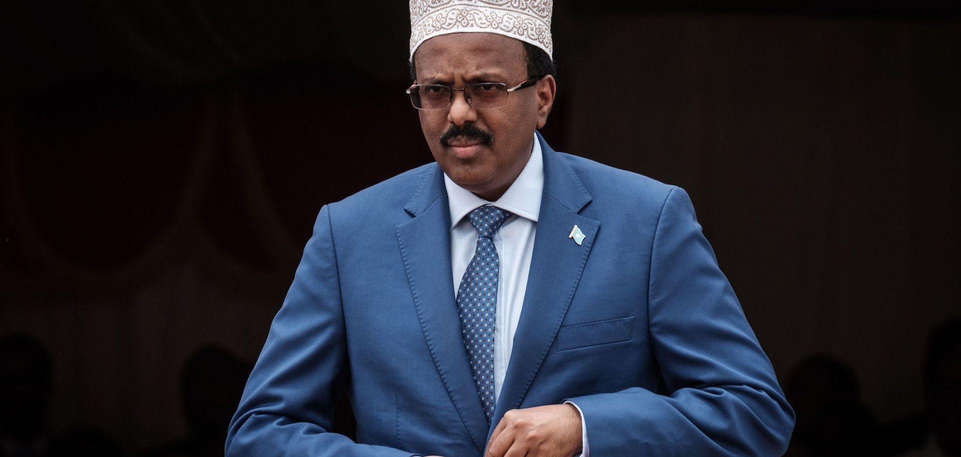 Somalian President Mohamed Abdullahi Mohamed on July 5, 2018, in Djibouti.