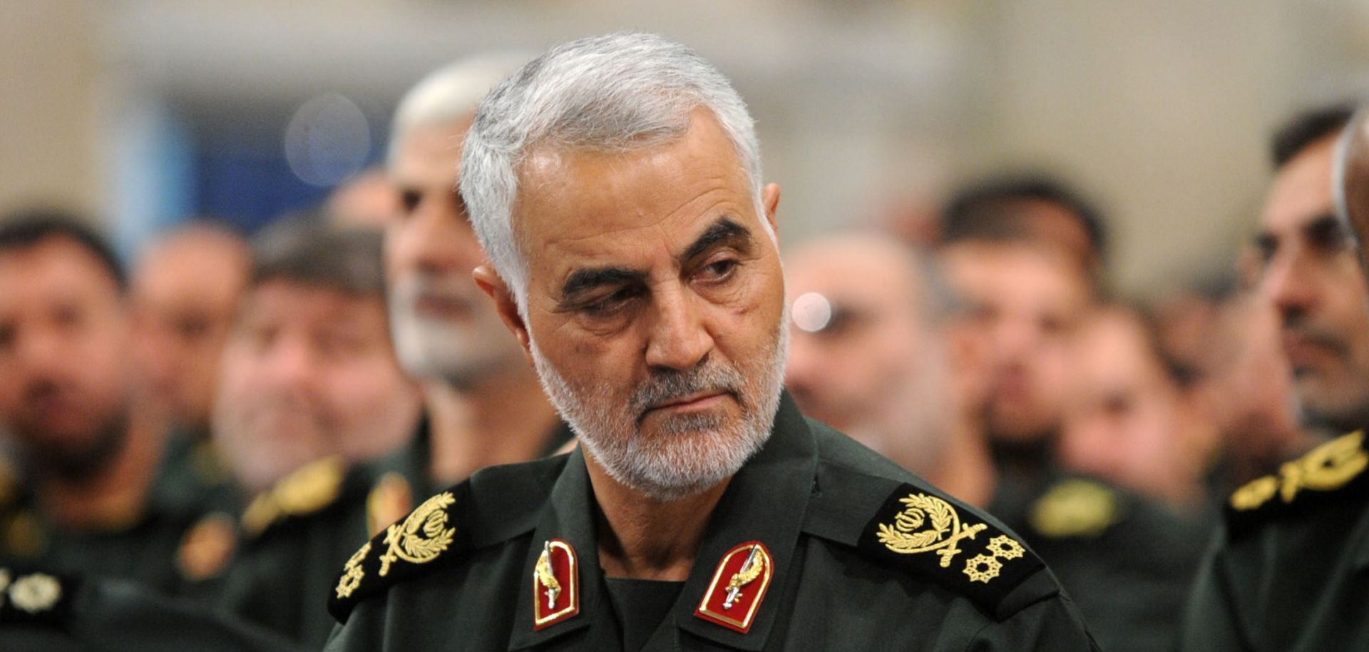 Iranian Quds Force Cmdr. Qassem Soleimani attends a meeting with the Islamic Revolution Guards Corps in Tehran on Sept. 18, 2016.