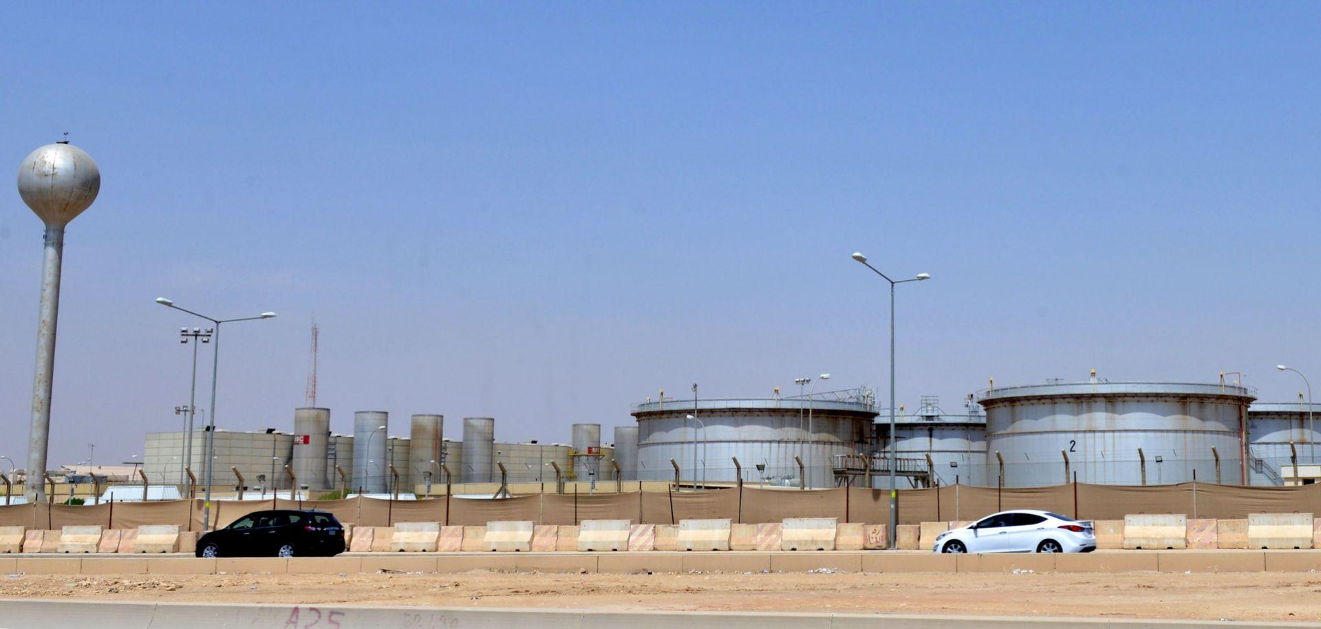 This photo shows a Saudi Aramco facility just outside Riyadh.