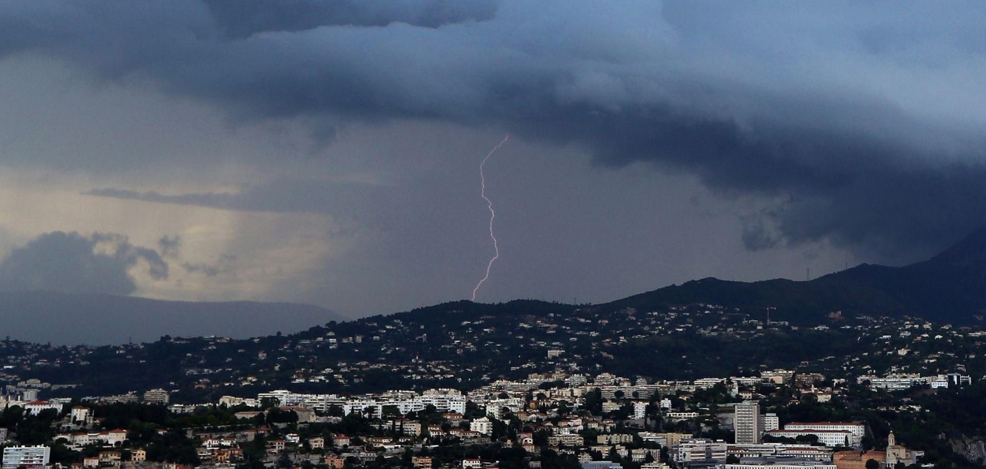 Lightning strikes in France