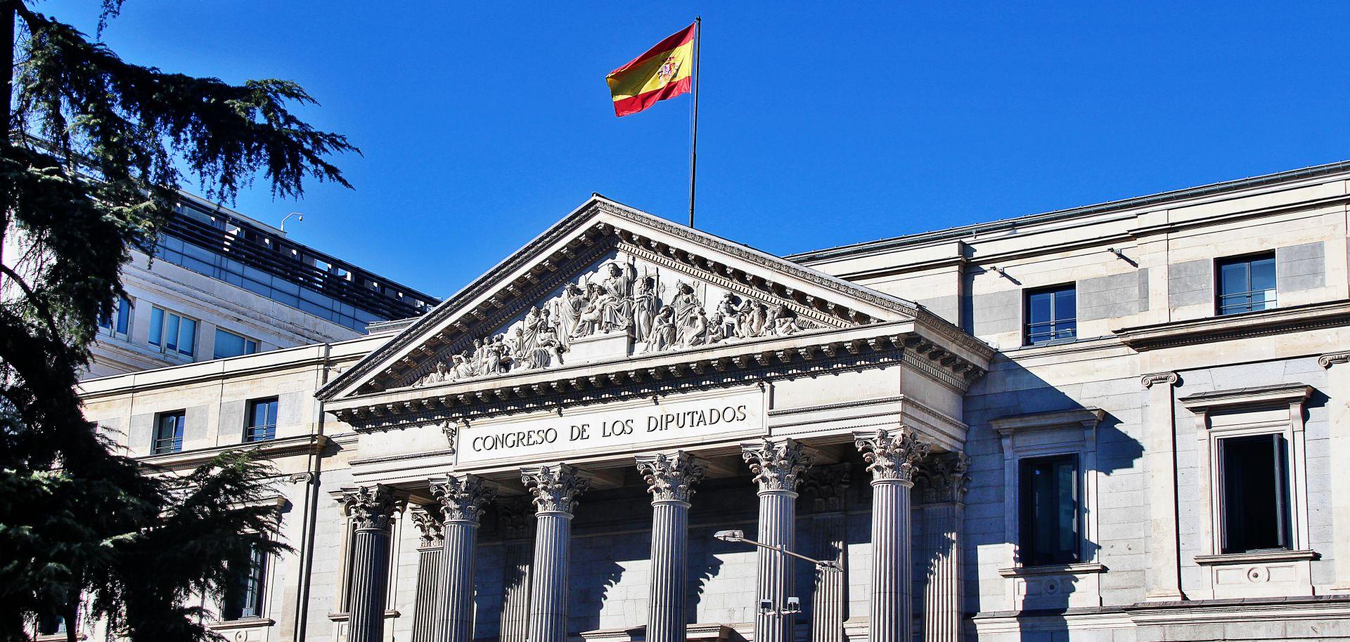A photo of Spain's Congress of Deputies building.