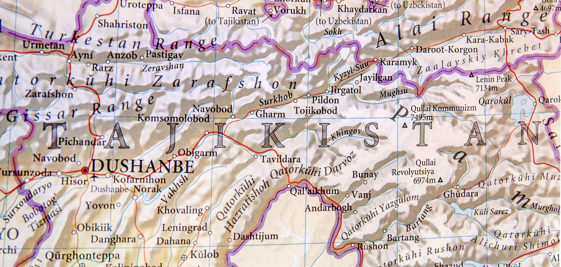A map of Tajikistan