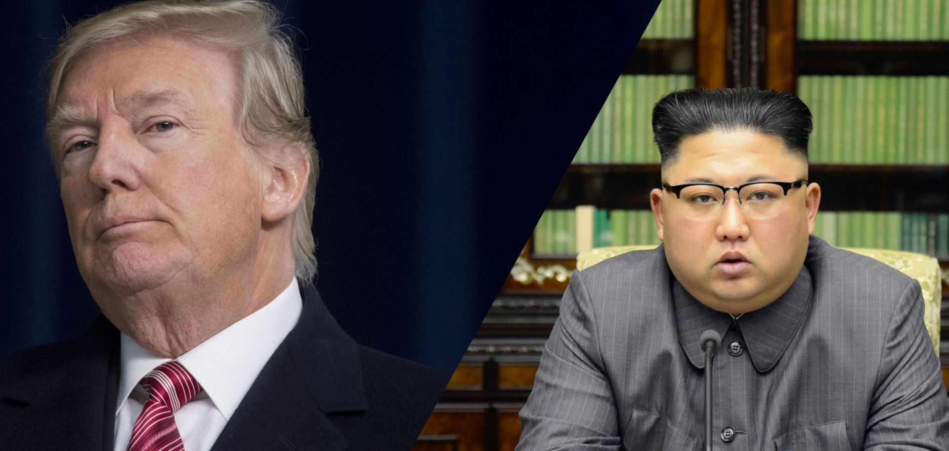 U.S. President Donald Trump and North Korea's Kim Jong Un.