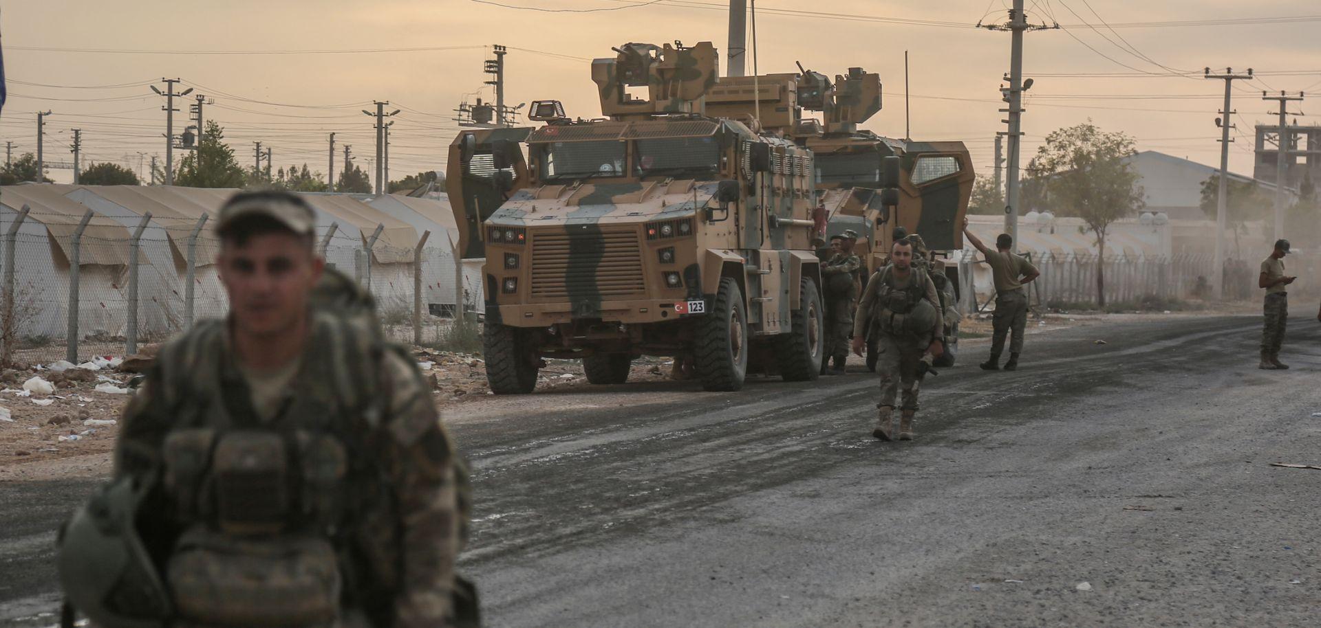 Turkish forces in Akcakale, Turkey near the Syrian border.