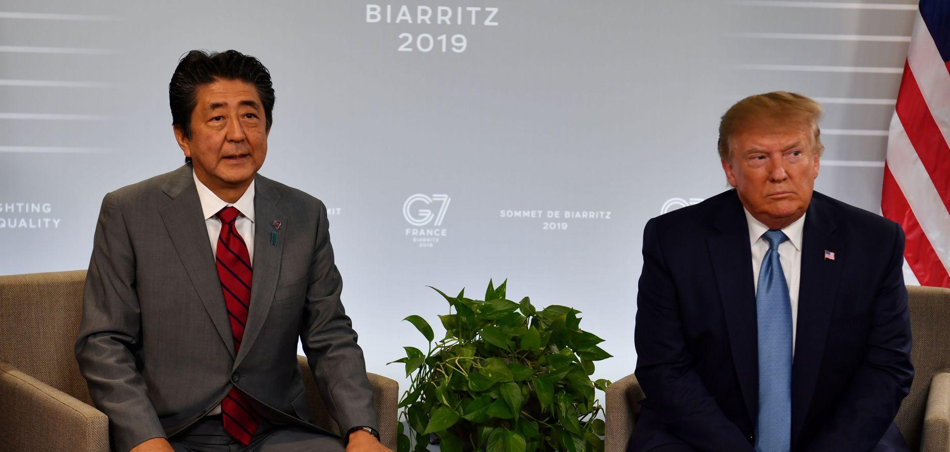 Japan's Prime Minister Shinzo Abe and U.S. President Donald Trump
