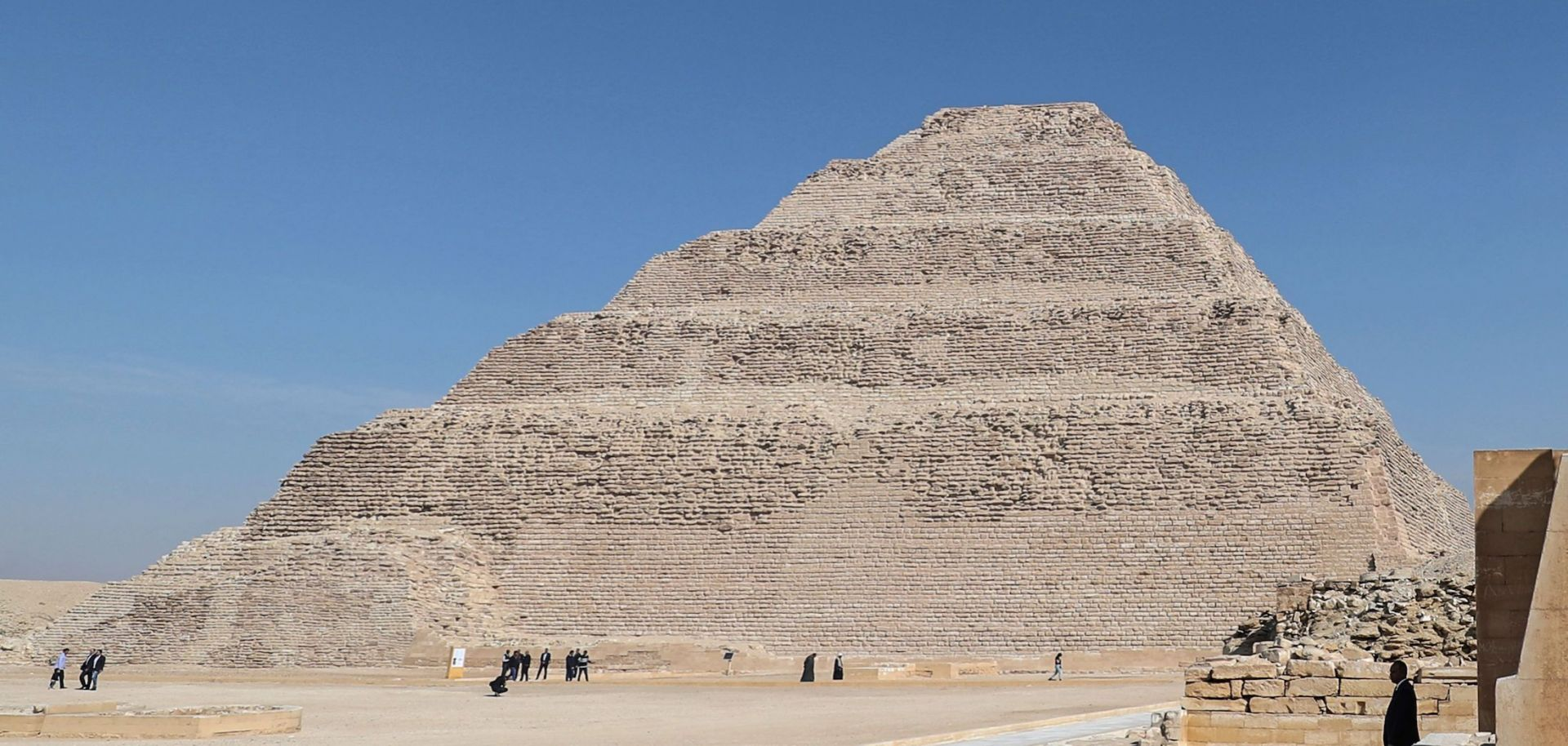 The steps of the pyramid of Djoser are seen in Egypt's Saqqara necropolis, south of the capital Cairo, on March 5, 2020.